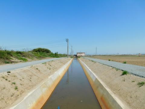 最上川左岸中央排水路その2