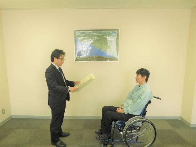 優秀勤労障害者表彰を受賞
